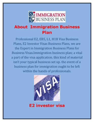 sample business plan for l1a visa
