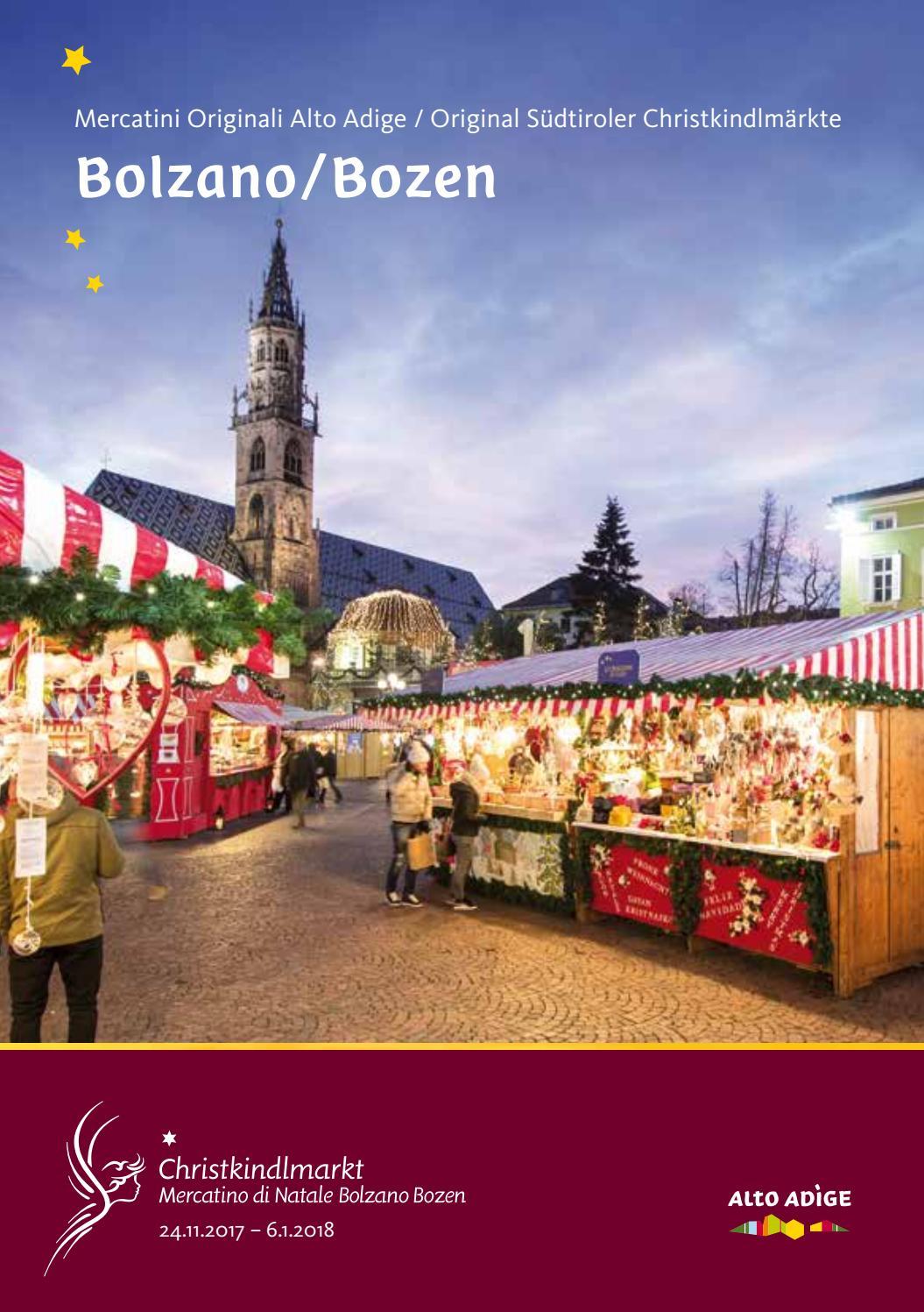 Mercatino di natale christkindlmarkt 2017 by bolzano for Azienda di soggiorno bolzano