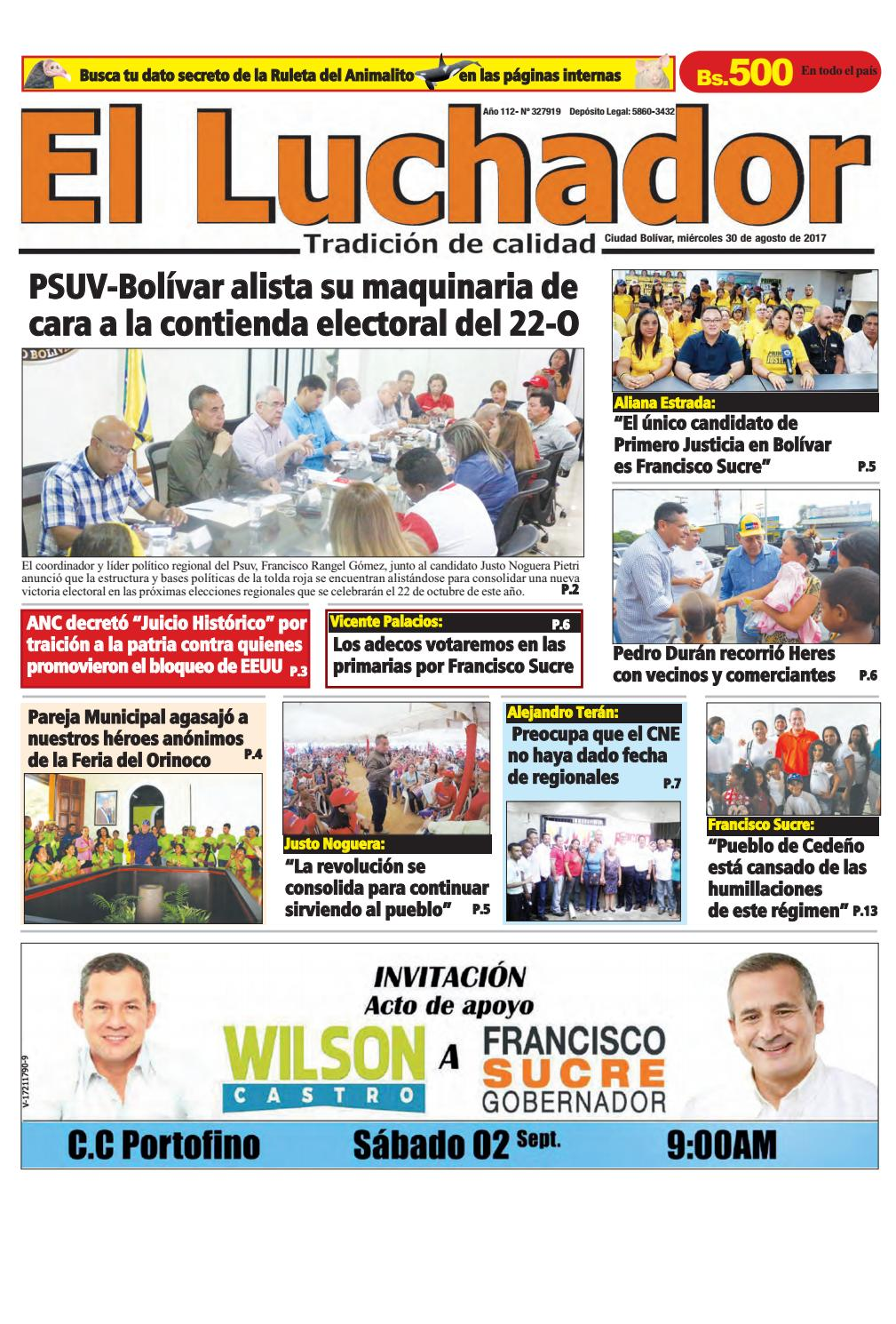30 08 2017 by Diario Luchador - issuu