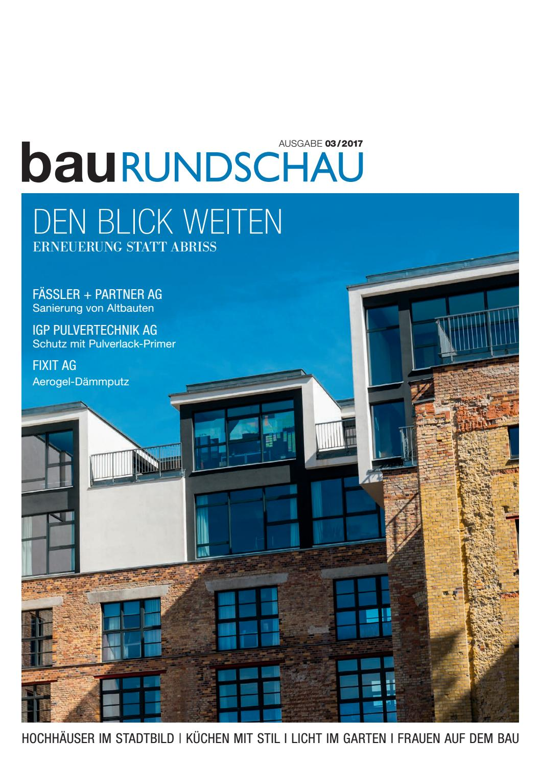 BauRUNDSCHAU 03/2017 By RundschauMEDIEN AG   Issuu