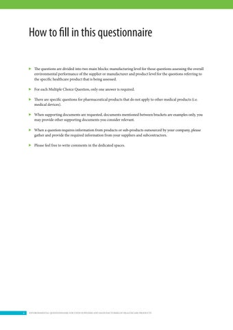 environmental questionnaire for undp suppliers and manufacturers of