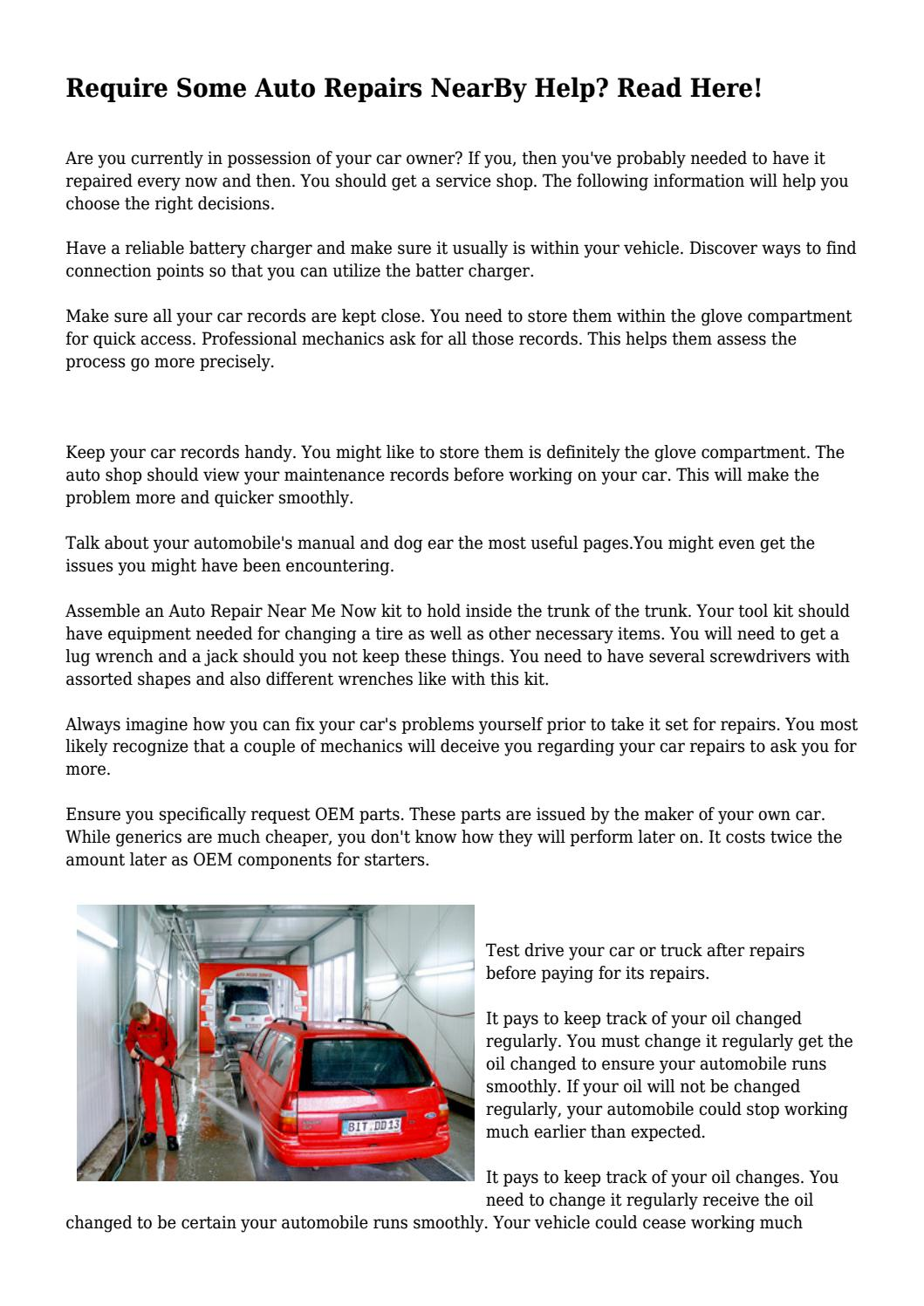 Require some auto repairs nearby help read here by utterjug3114 require some auto repairs nearby help read here by utterjug3114 issuu solutioingenieria Images