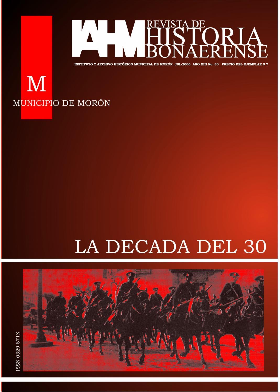 6e93cd5b1d2 RHB N°30 – LA DÉCADA DEL ´30 by Revista de Historia Bonaerense - issuu