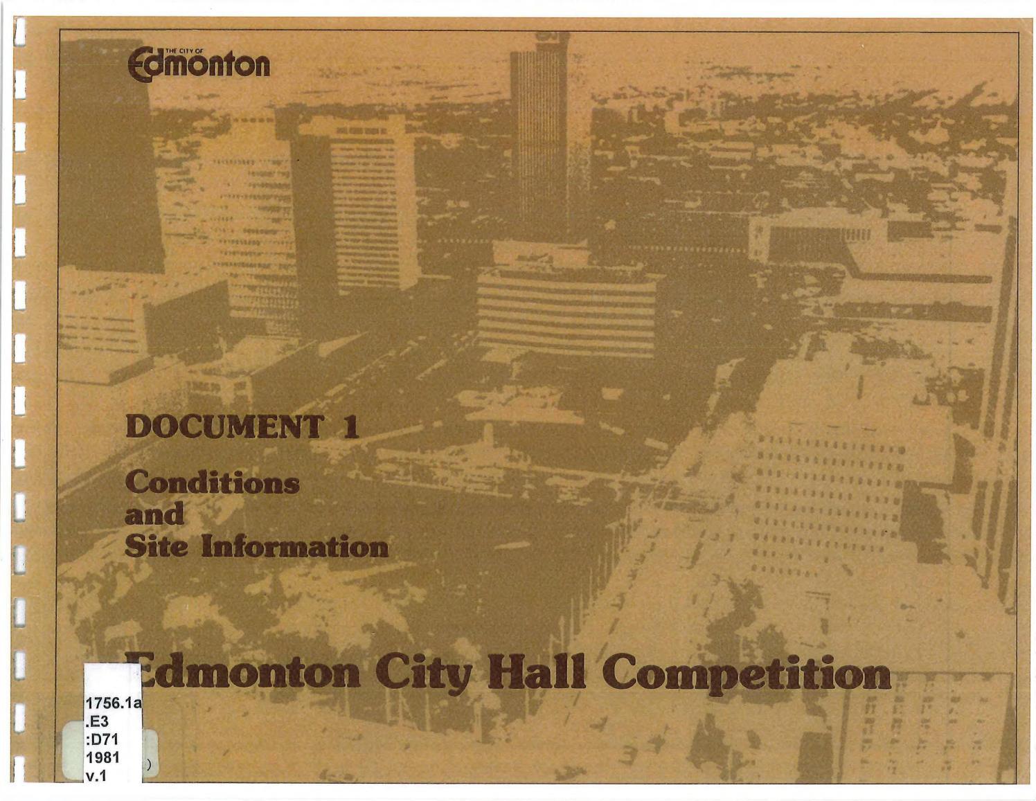 Prepared for Edmonton Alta 1981
