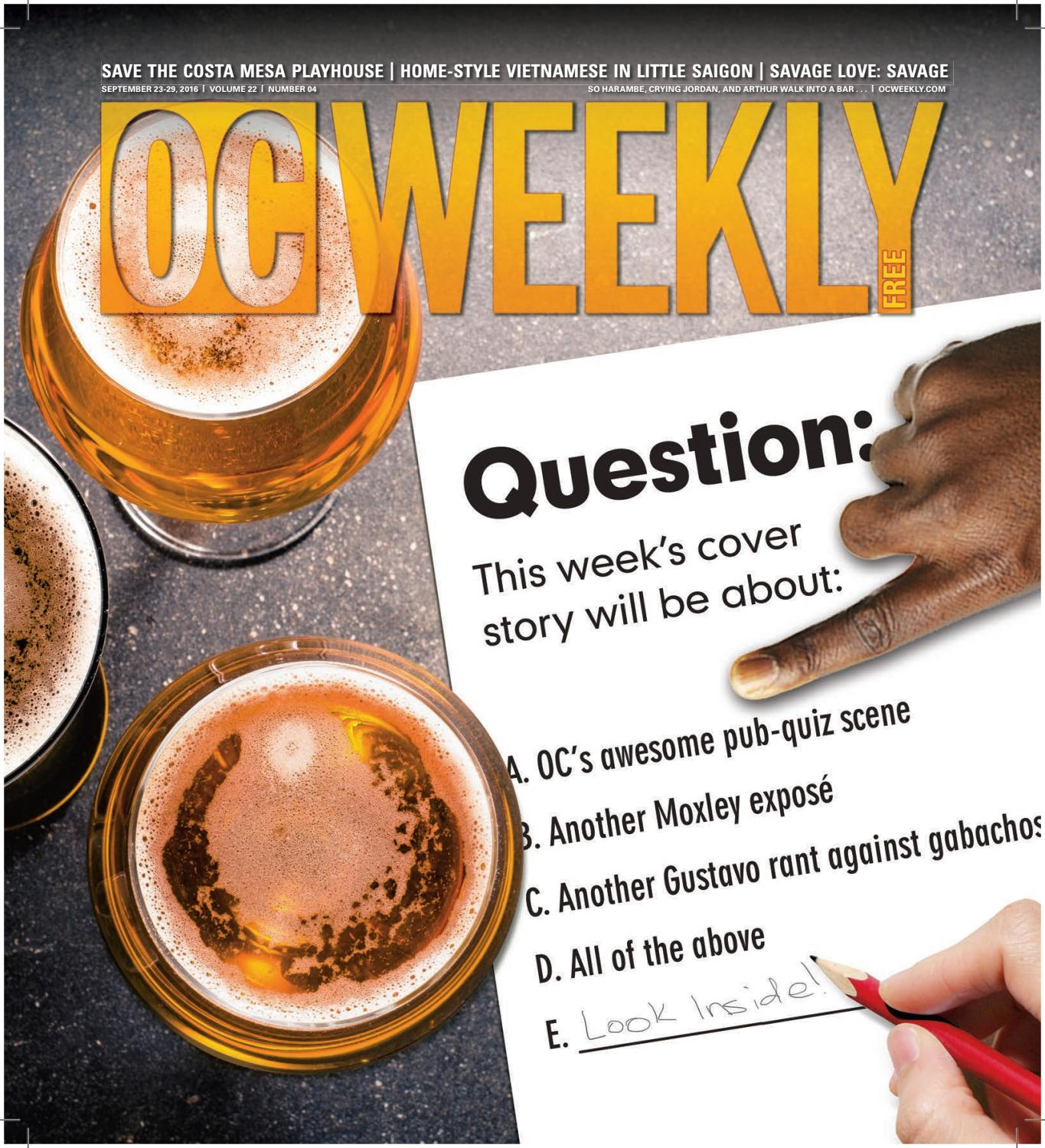 September 22, 2016 – OC Weekly by Duncan McIntosh Company