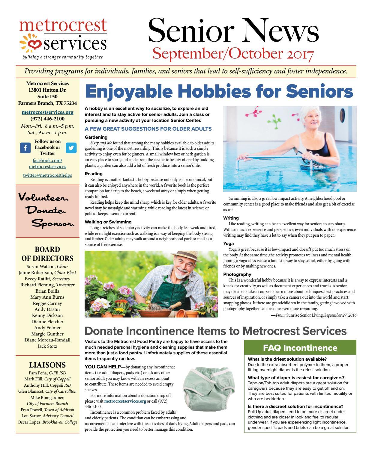 Metrocrest Services Senior News September/October Edition by