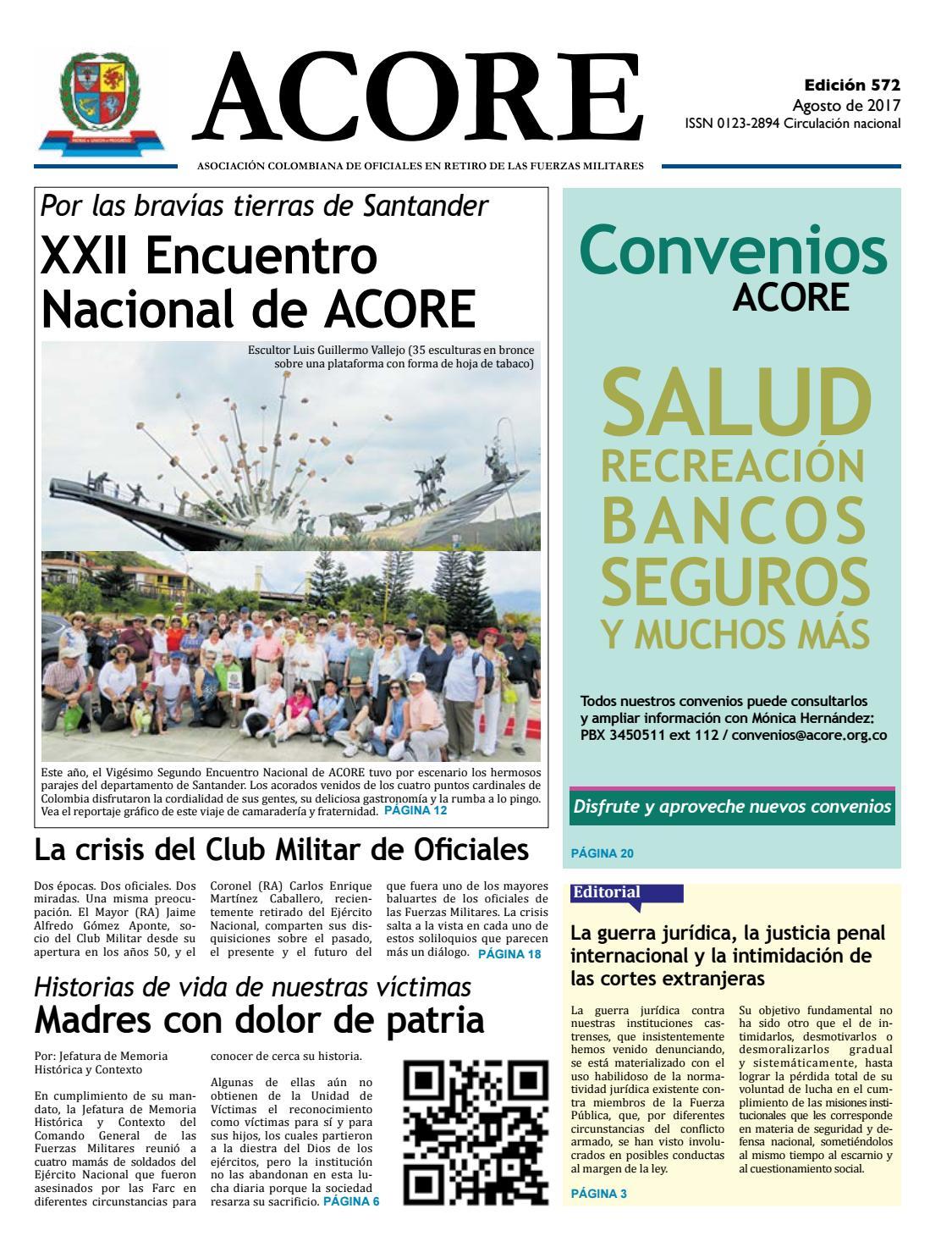 Periódico edición 572 agosto 2017 by ACORE - issuu 70359485a30