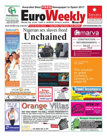 Euro Weekly News - Costa Blanca North 31 August – 6 September 2017 Issue  1678 1174245cdf6