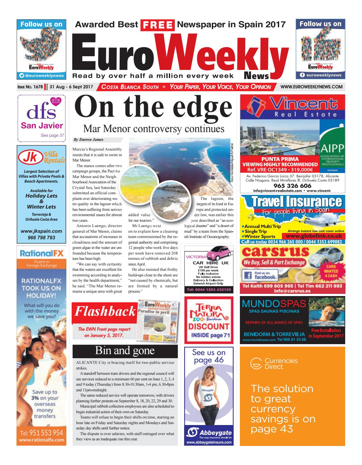 bf8a26726ee1 Euro Weekly News - Costa Blanca South 31 August – 6 September 2017 Issue  1678 by Euro Weekly News Media S.A. - issuu