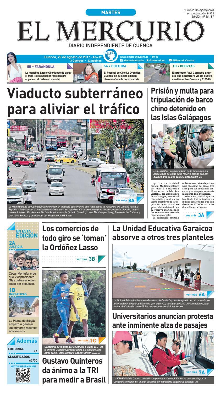 31a0429b617b hemeroteca 29-08-2017 by Diario El Mercurio Cuenca - issuu