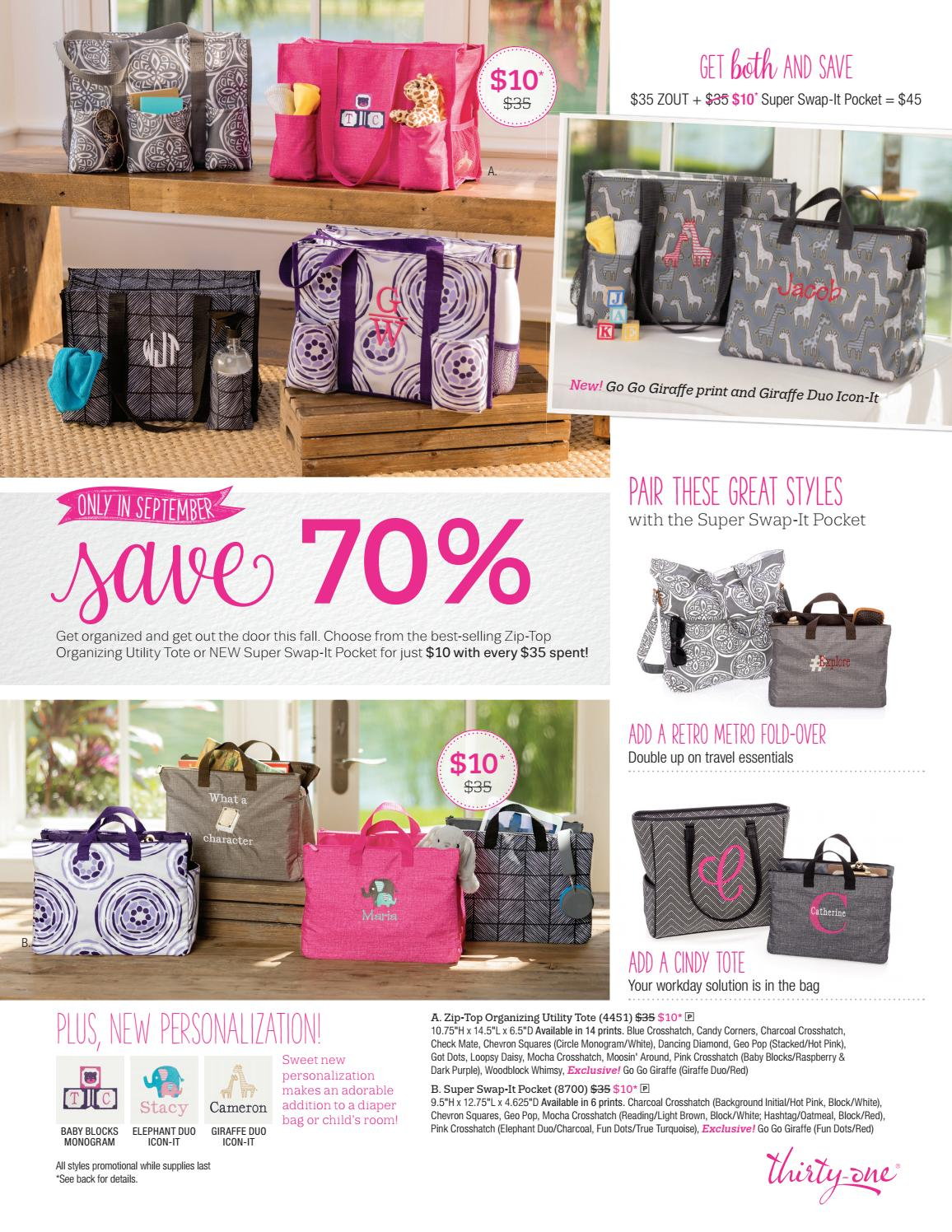 Thirty One September 2017 Customer And Hostess Specials By Kelly