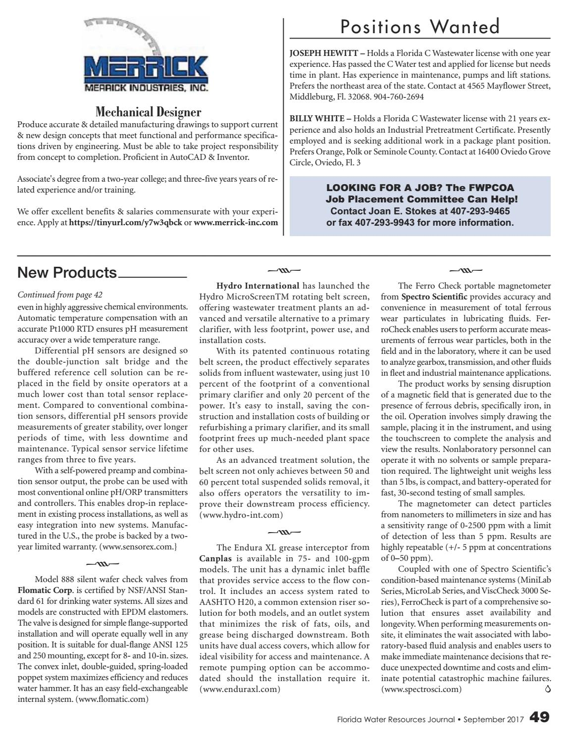 Florida Water Resources Journal -September 2017 by Florida