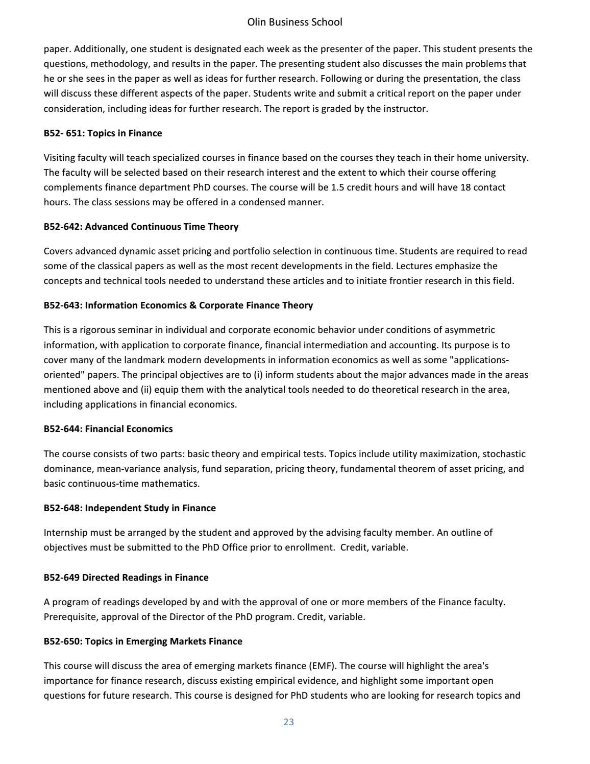 corporate finance topics research paper