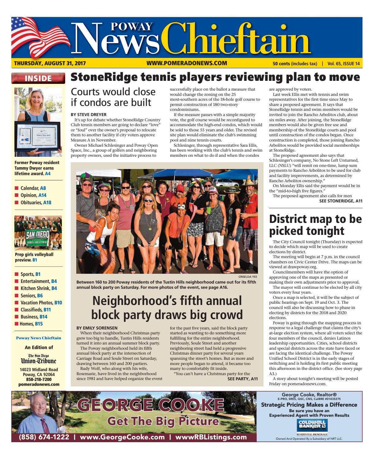 Poway News Chieftain 08 31 17 by MainStreet Media - issuu