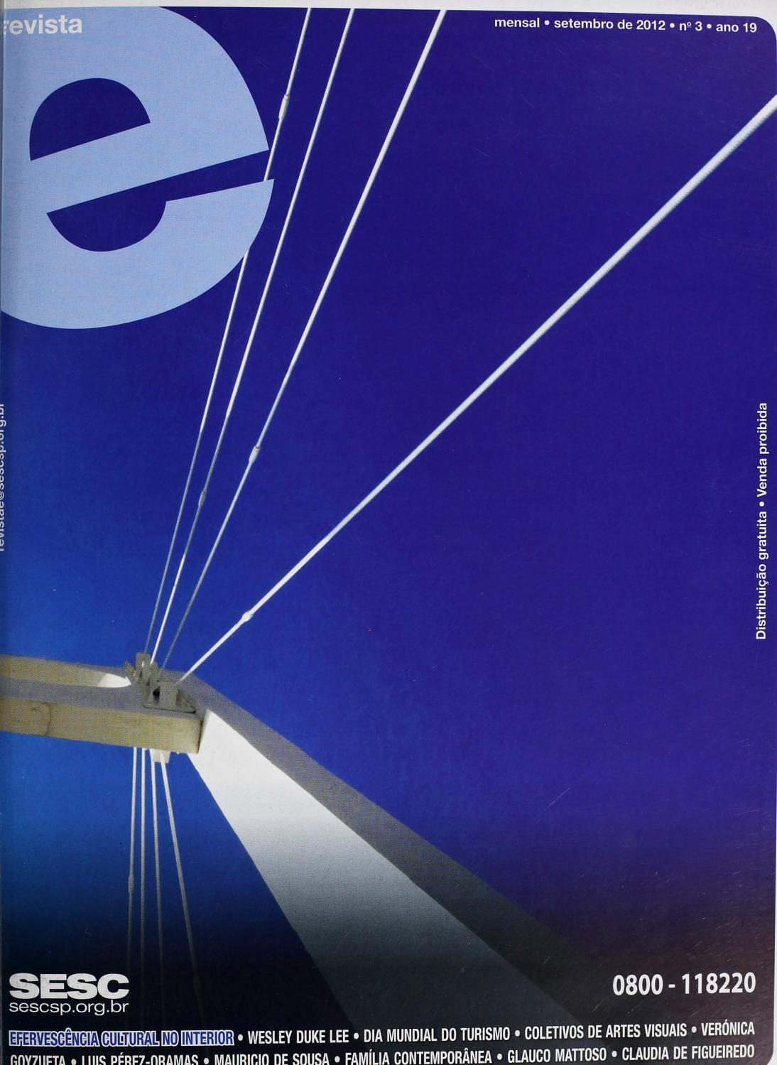 Revista E - Setembro de 2012 - ANO 19 - Nº 3 by Sesc em São Paulo - issuu fe7f74eb5e4