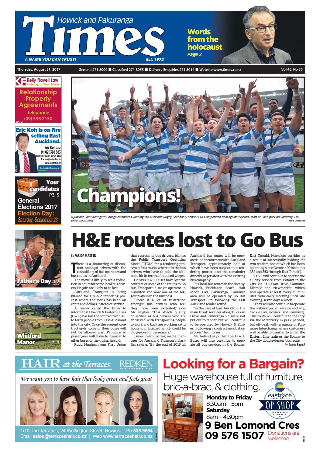 Howick And Pakuranga Times August 31 2017 By Media