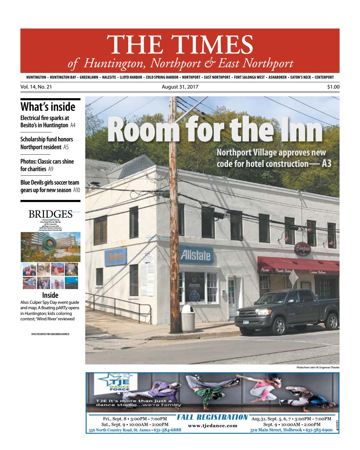 The Times Of Huntington Northport August 31 2017 By Tbr News
