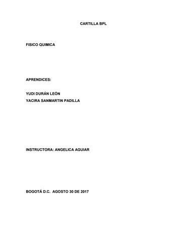 Buenas prácticas de laboratorio o good laboratory practice by Yacira ...