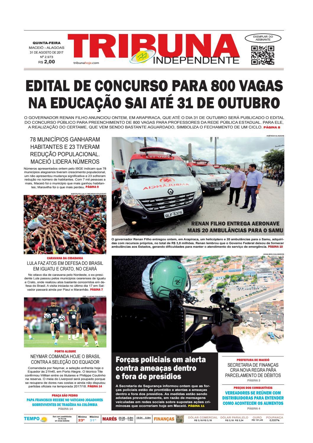 6c0fd07c4ef Edição número 2973 - 31 de agosto de 2017 by Tribuna Hoje - issuu