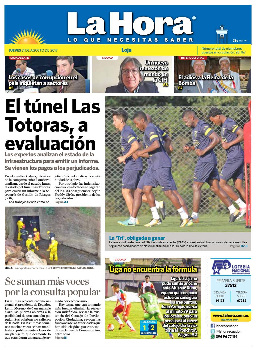 d5e88c983 Diario La Hora Loja 31 de Agosto 2017 by Diario La Hora Ecuador - issuu