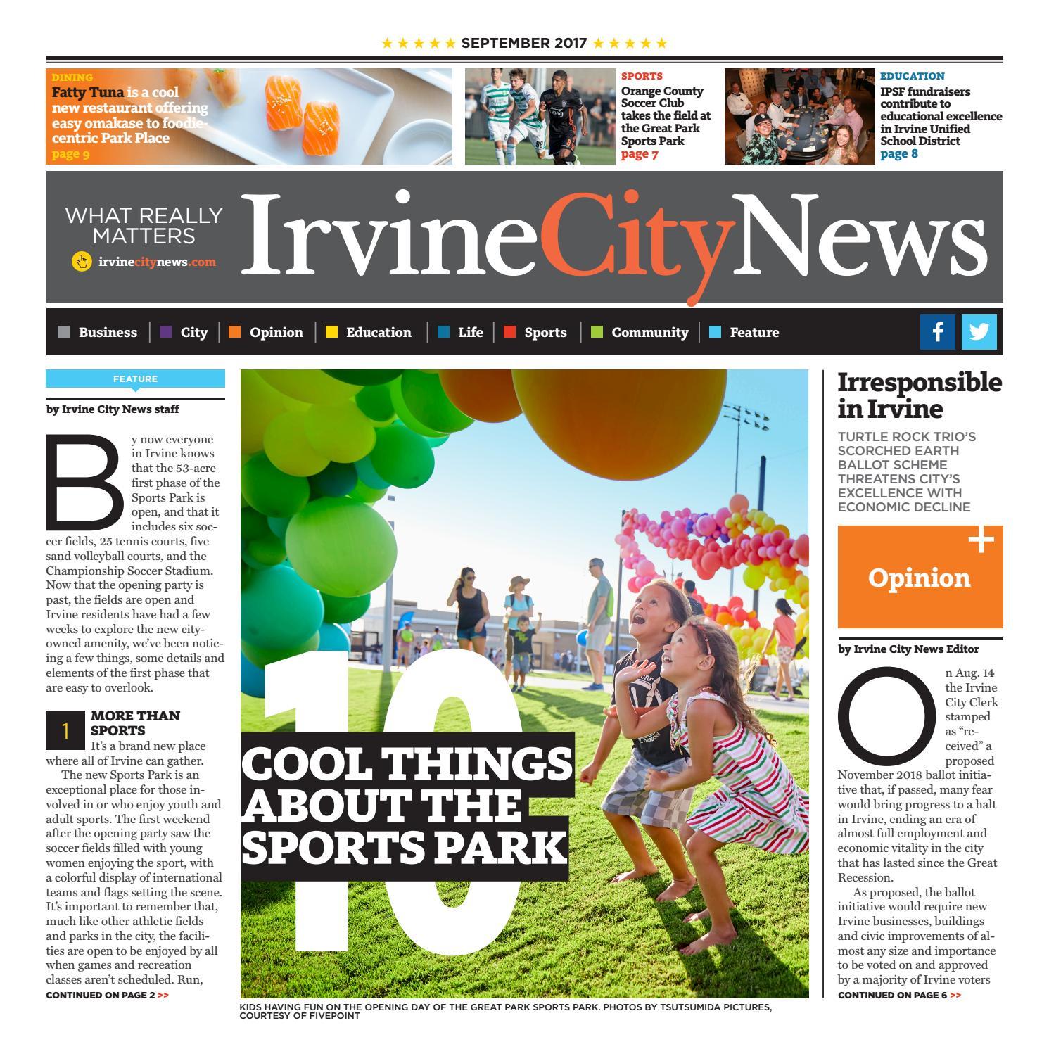 Irvine City News 9 2017 by Irvine City News - issuu