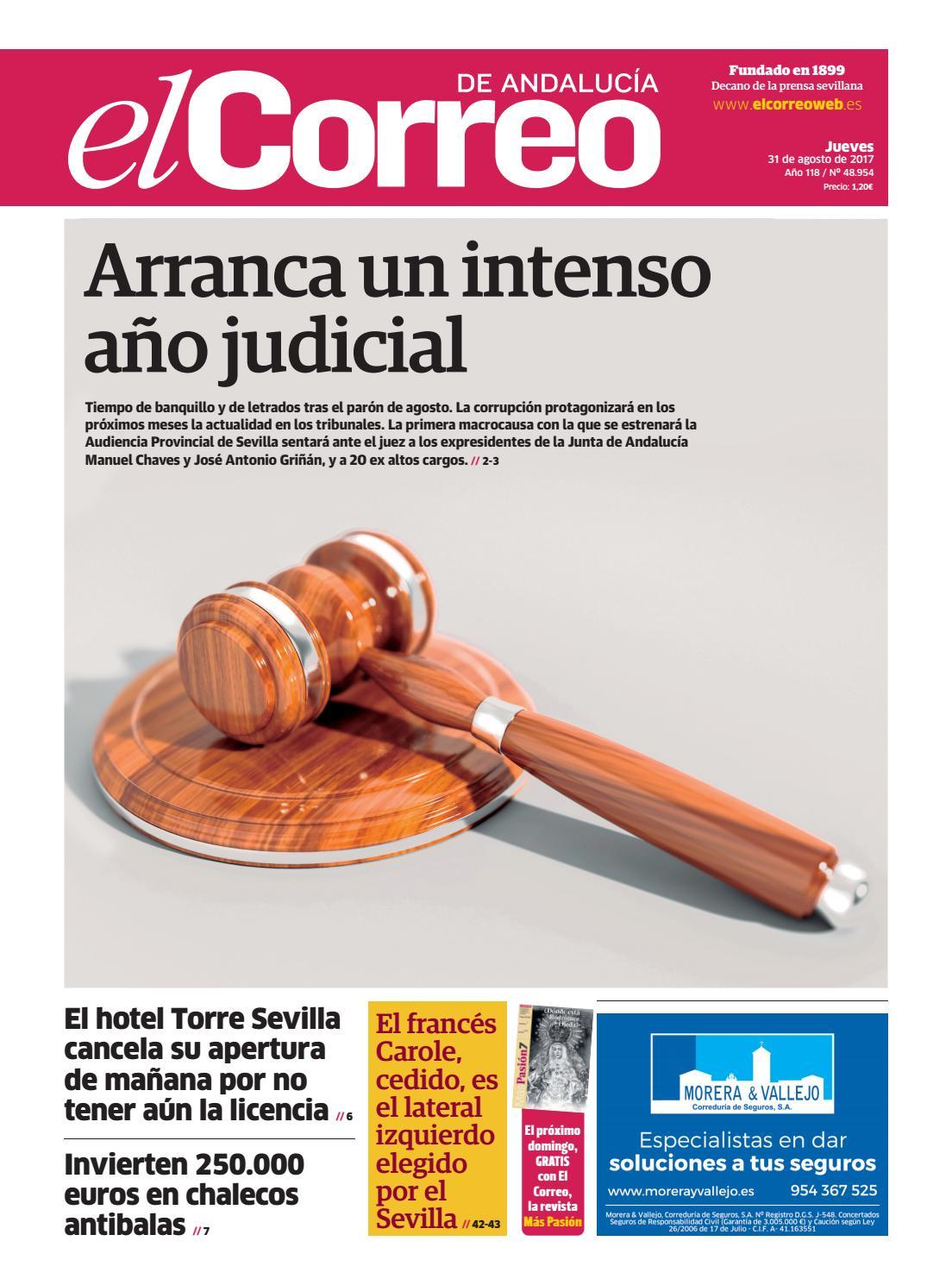 31 08 2017 El Correo De Andaluc A By El Correo De Andaluc A S L  # Muebles Caparros E Hijos