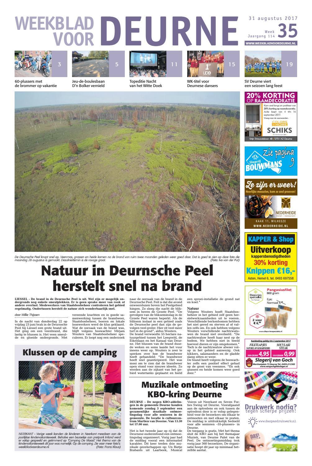 d98f7615c51 Weekblad voor Deurne wk35 by Das Publishers! - issuu
