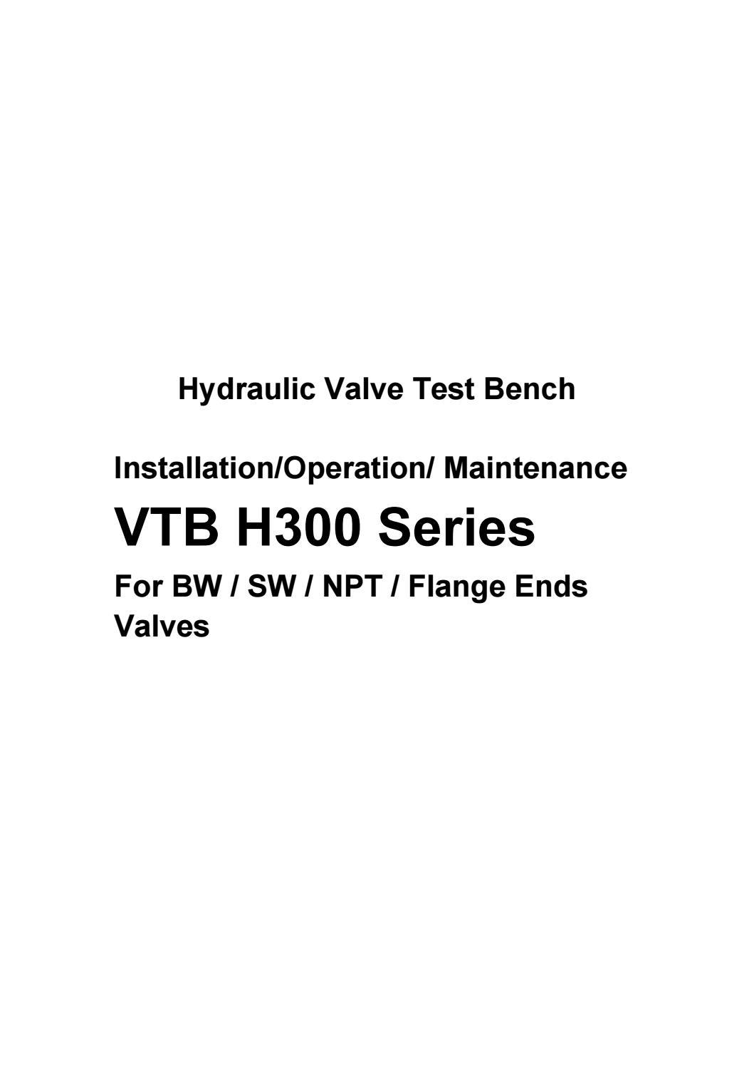 hydraulic valve test bench vtb h300 by valvetest issuu. Black Bedroom Furniture Sets. Home Design Ideas