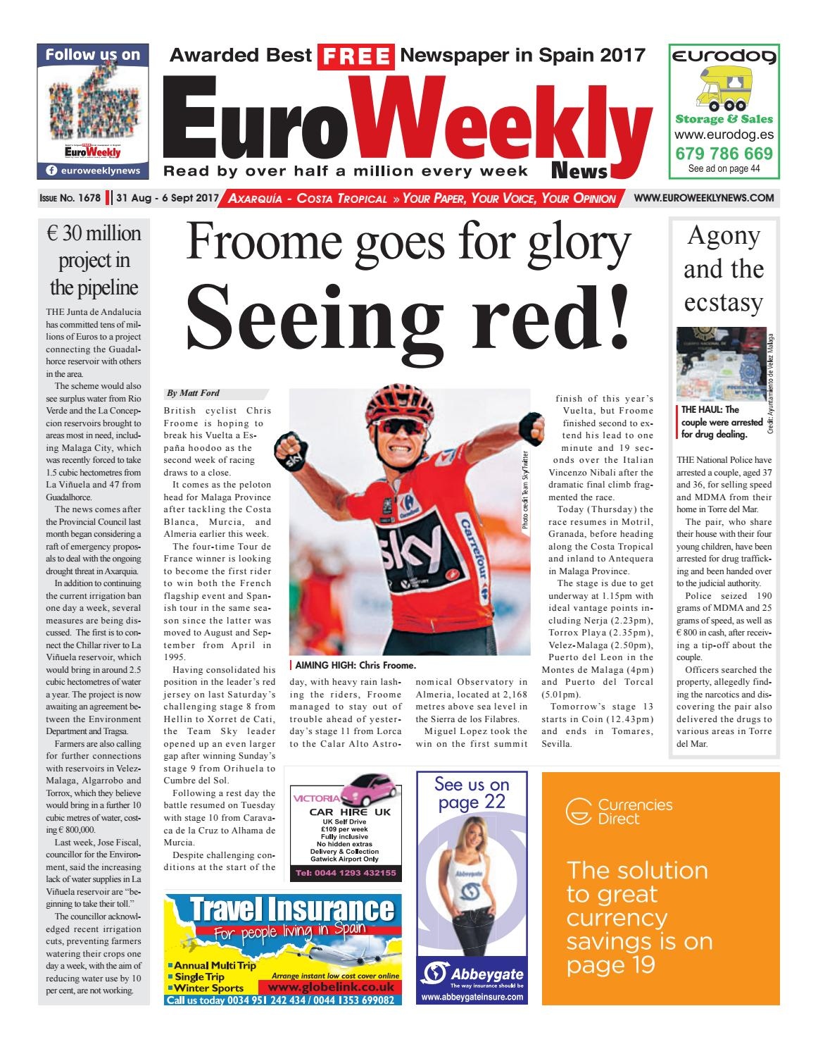 Actor Porno En Tenerife 2017 euro weekly news - axarquia 31 august – 6 september 2017