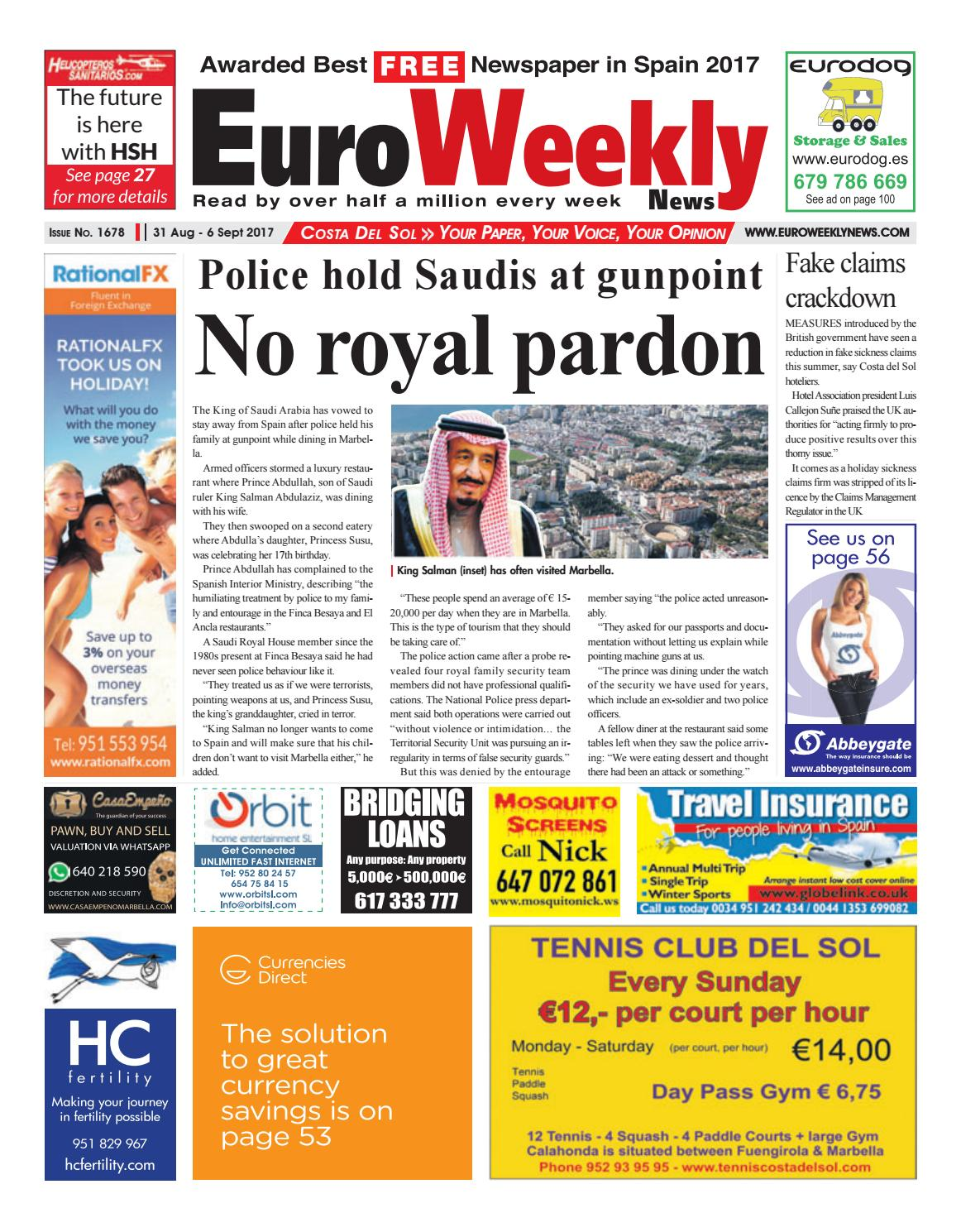 Euro Weekly News - Costa del Sol 31 August – 6 September