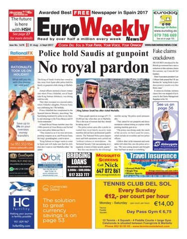 0d4f97a4e7a Euro Weekly News - Costa del Sol 31 August – 6 September 2017 Issue ...