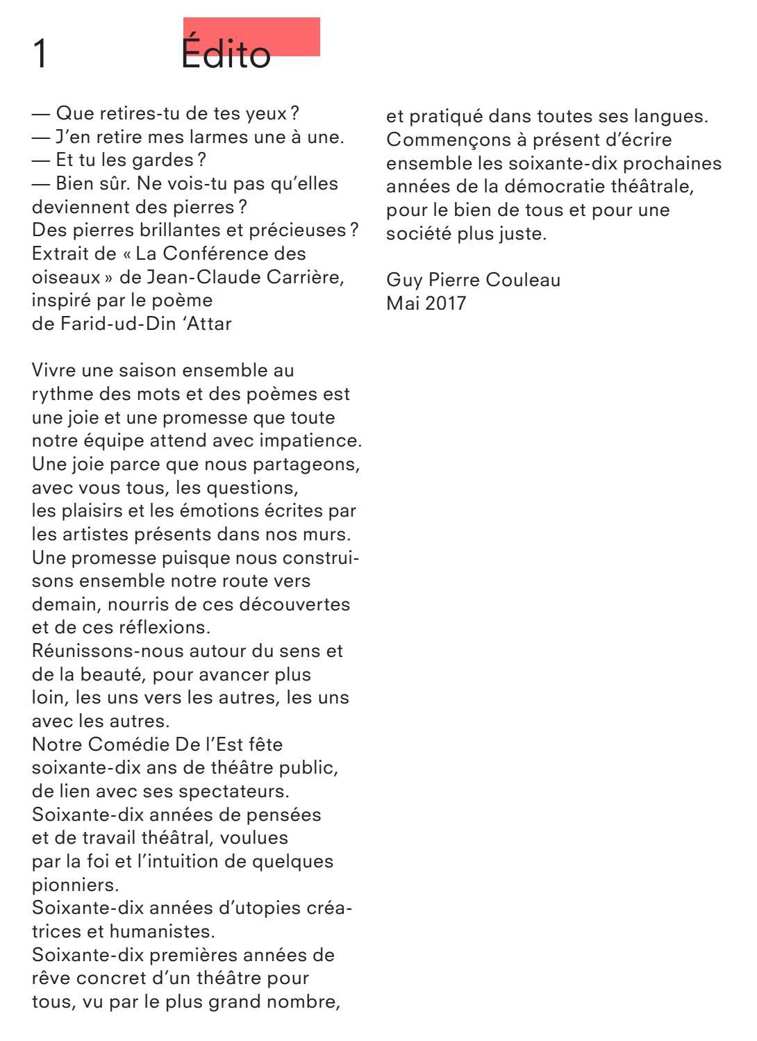 Comédie De Lest Plaquette 17 18 By Becoze Issuu