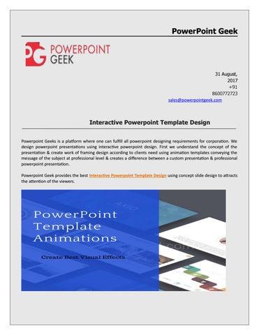 Interactive professional powerpoint template designn by powerpoint powerpoint geek toneelgroepblik Images