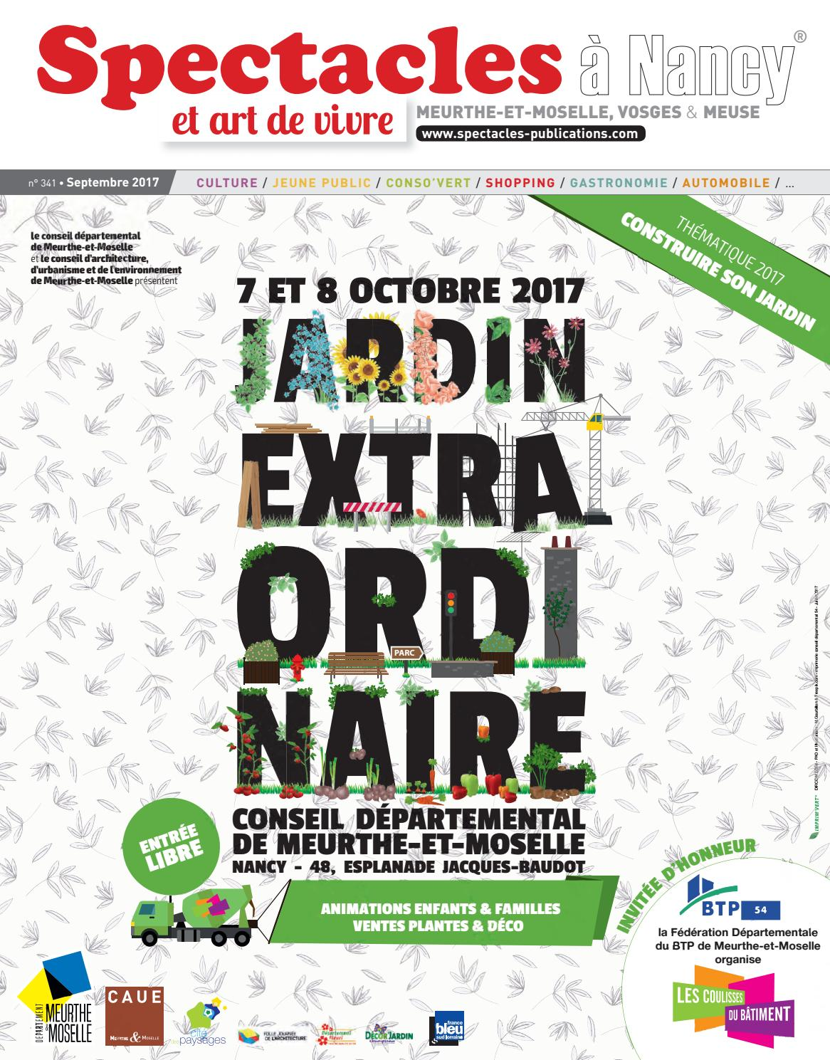 Agent D Entretien Meurthe Et Moselle spectacles publications nancy n°341 / septembre 2017