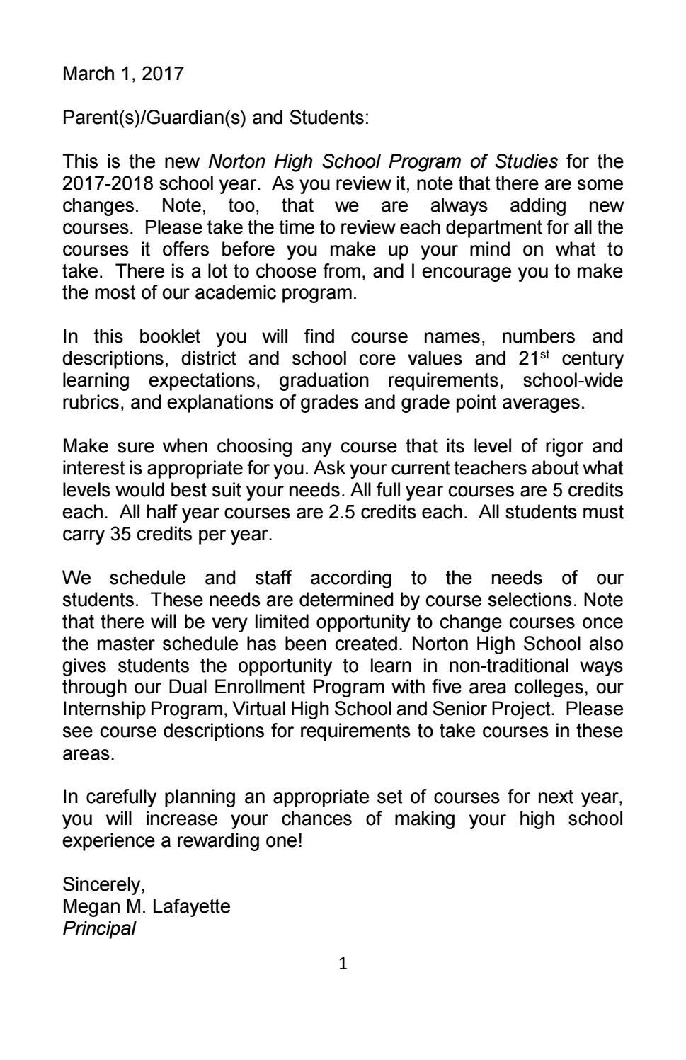 Workbooks developing spatial thinking workbook : Program of Studies 2017 2018 by Norton High School - issuu