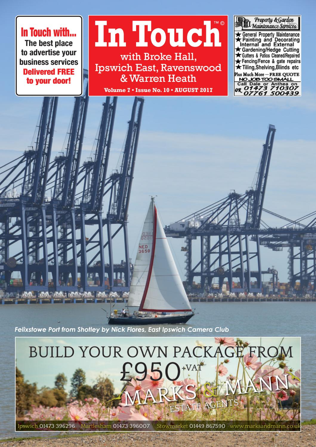 In touch news with ipswich east aug 2017 by Mansion House