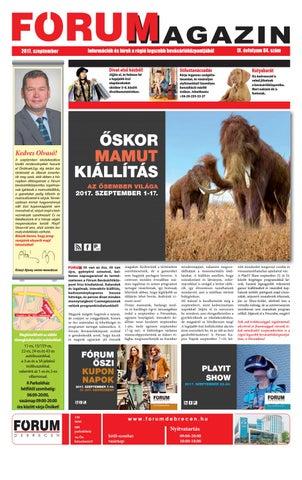 cd1311dbb9 FÓRUM Magazin szeptember 2017 by Company Info Kft. - issuu