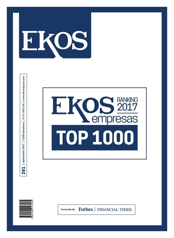 official photos 2c592 00bf5 Revista Ekos – Ranking Empresarial 1000 by Ekos - issuu
