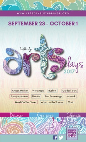 Lethbridge arts days 2017 program by allied arts council lethbridge page 1 malvernweather Choice Image