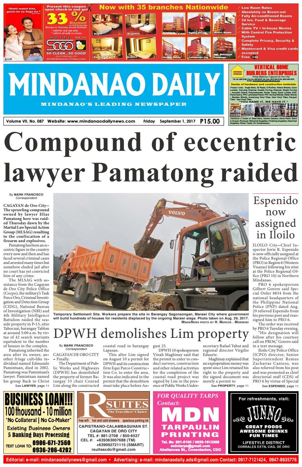 Mindanao Daily (September 1, 2017) by Mindanao Daily News - issuu