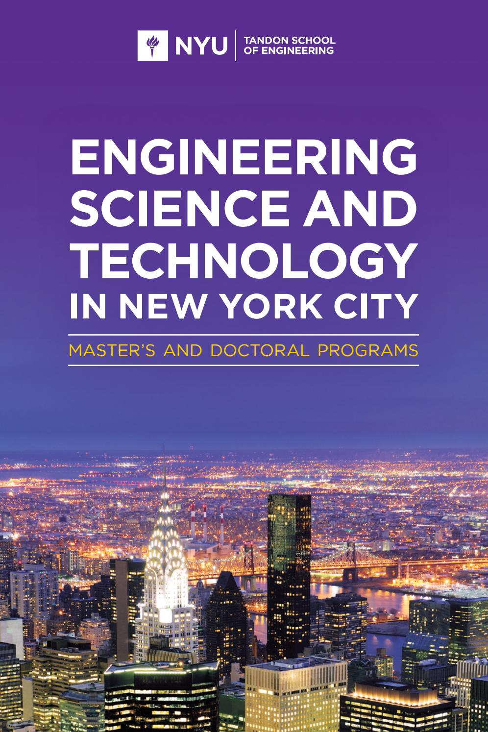 Engineering, Science and Technology in New York City