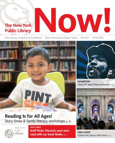 The New York Public Library Now! Fall 2017 by The New York
