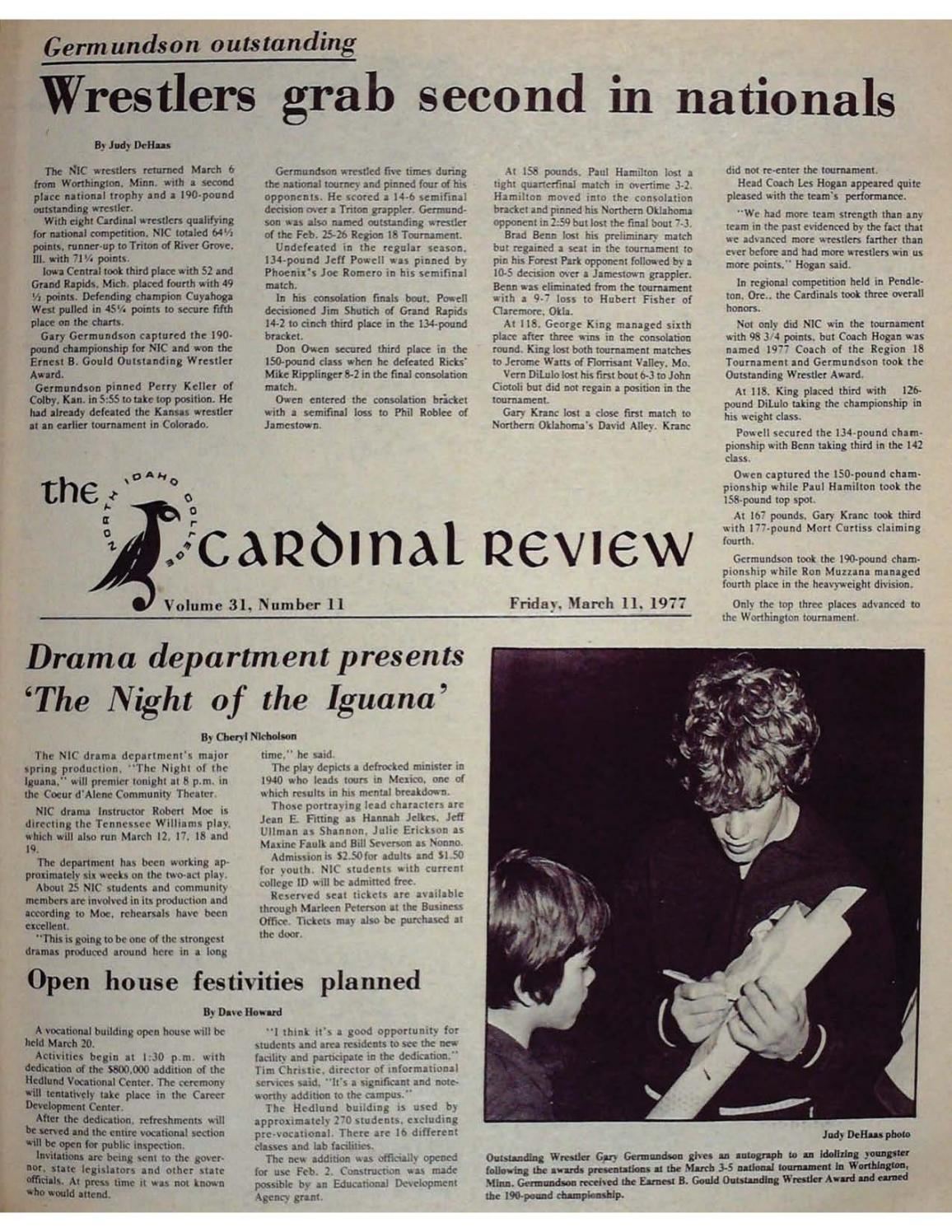 North Idaho College Cardinal Review Vol 31