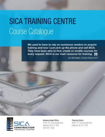 2017 sica training centre course catalogue by sicabc issuu sica training centre course catalogue we used to have to rely on numerous vendors to acquire training and now i just pick up the phone and call sica malvernweather Gallery