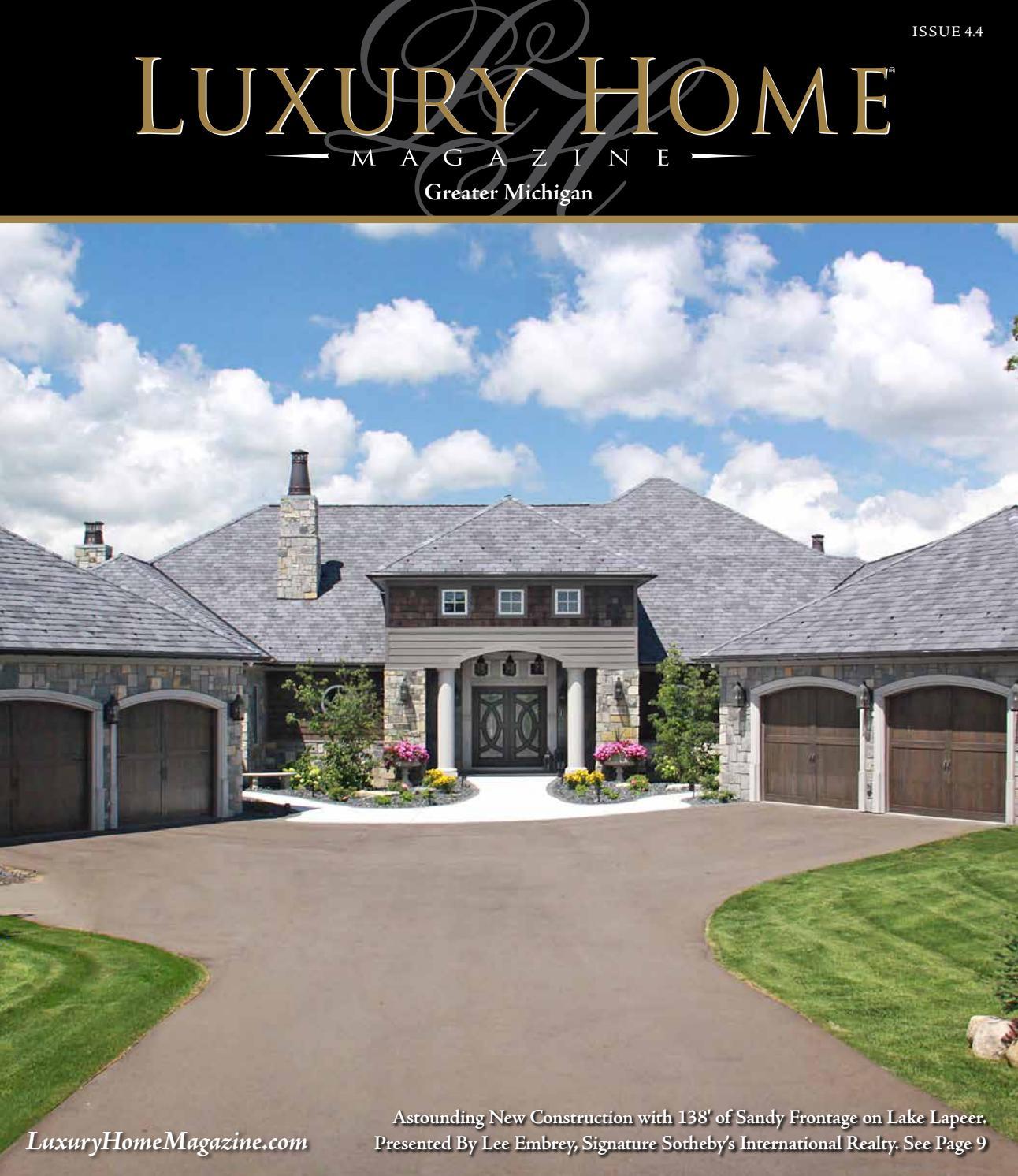 Country Club Apartments Birmingham Al: Luxury Home Magazine Michigan Issue 4.4 By Luxury Home