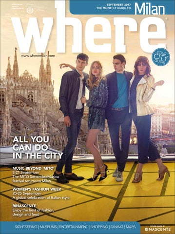 Where Milan September 2017 by Morris Media Network - issuu edb3153cb0d0