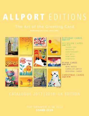 Allport editions united kingdom catalogue 2017 2018 by allport allport editions the art of the greeting card publishing art cards since 1982 m4hsunfo