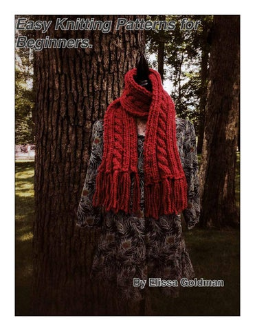 Easy Knitting Patterns For Beginners By Elissa Goldman Issuu
