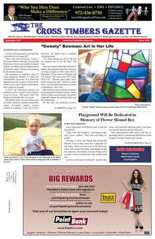 The Cross Timbers Gazette September 2017 by The Cross Timbers