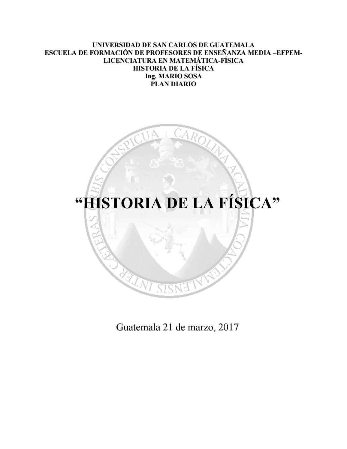 Historia de la Física by Piero Antonino - issuu